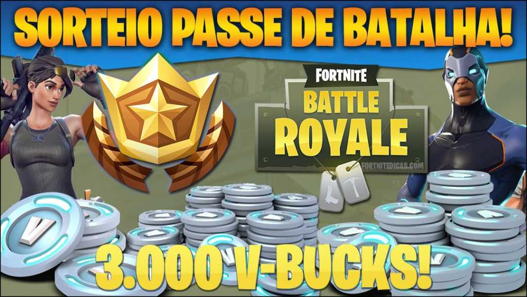 Sorteio 1.000 V-Bucks para Fortnite